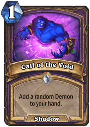 Call of the Void Card