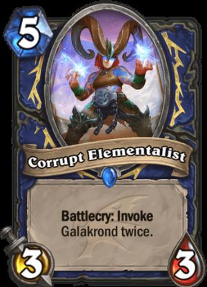 Corrupt Elementalist Card