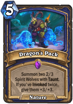 Dragon's Pack Card