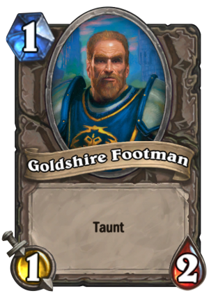 Goldshire Footman Card