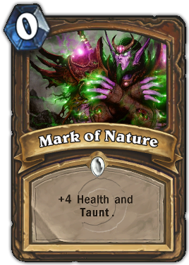 Mark of Nature (Taunt) Card