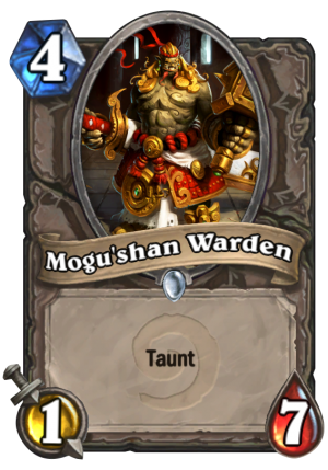 Mogu'shan Warden Card