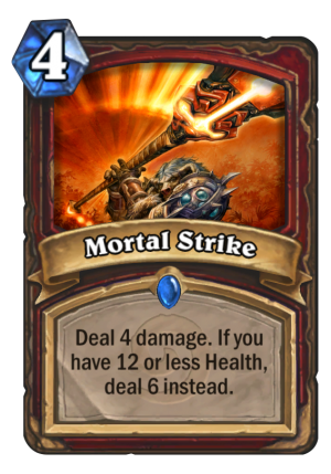 Mortal Strike Card