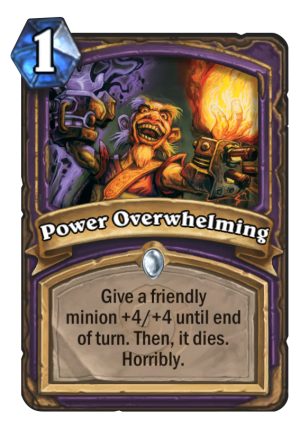 Power Overwhelming Card