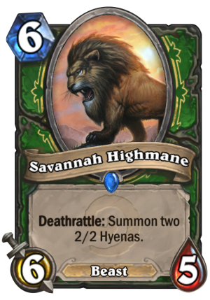 Savannah Highmane Card
