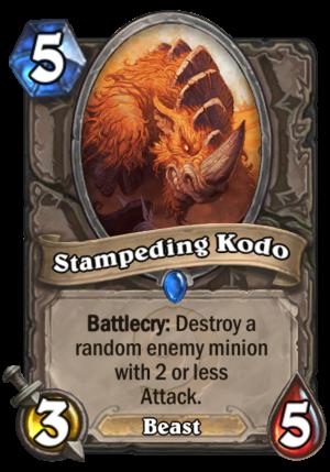 Stampeding Kodo Card