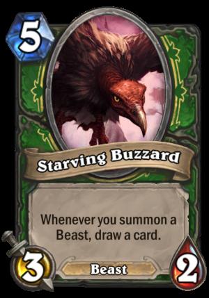 Starving Buzzard Card