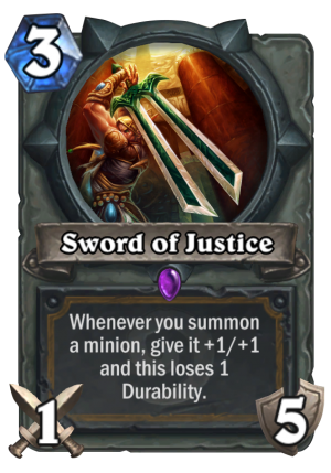 Sword of Justice Card