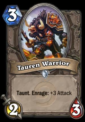 Tauren Warrior Card