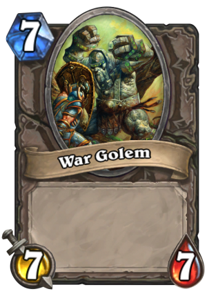 War Golem Card