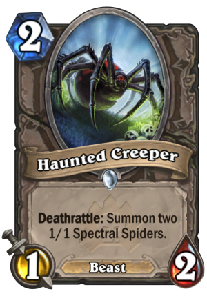 Haunted Creeper Card