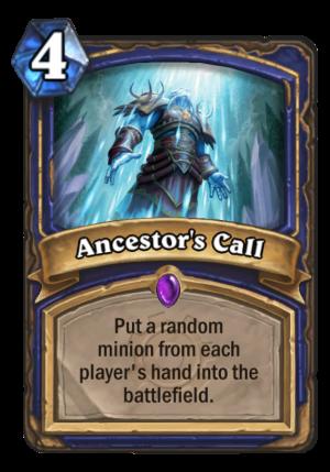 Ancestor's Call Card