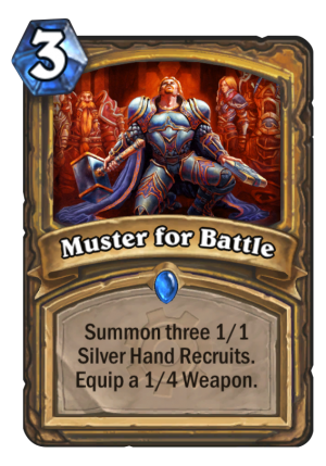 Muster for Battle Card