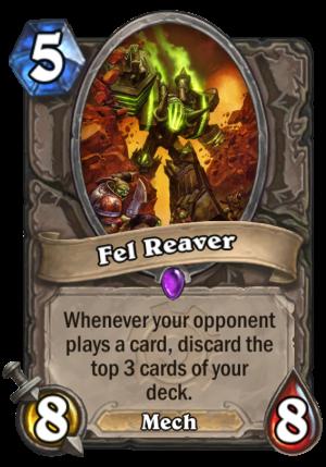 Fel Reaver Card