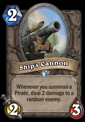 Ship's Cannon Card
