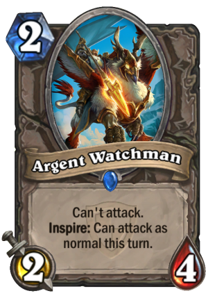 Argent Watchman Card