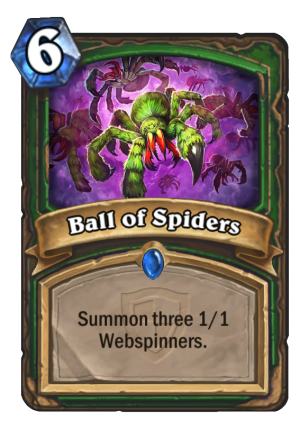 Ball of Spiders Card