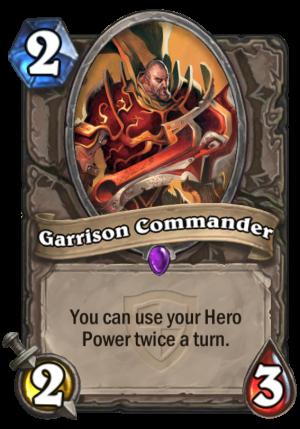 Garrison Commander Card