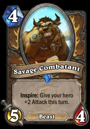 Savage Combatant Card