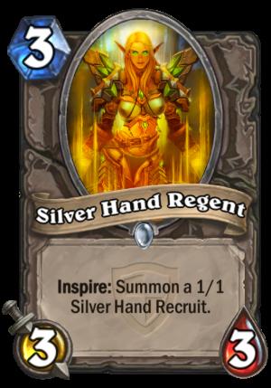 Silver Hand Regent Card