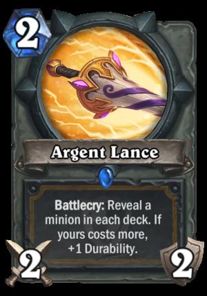 Argent Lance Card