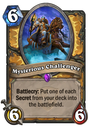 Mysterious Challenger Card