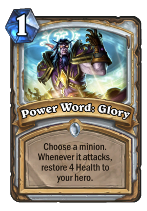 Power Word: Glory Card