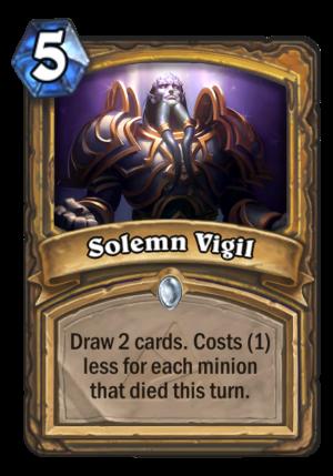 Solemn Vigil Card