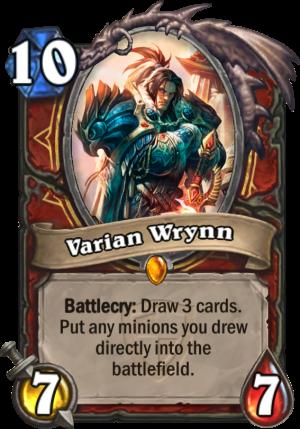 Varian Wrynn Card