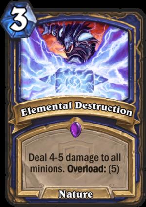 Elemental Destruction Card