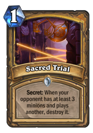 Sacred Trial Card