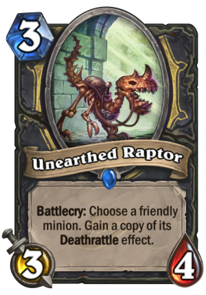 Unearthed Raptor Card