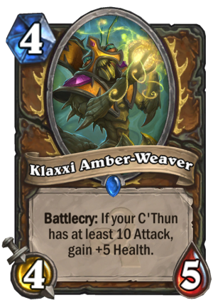 Klaxxi Amber-Weaver Card