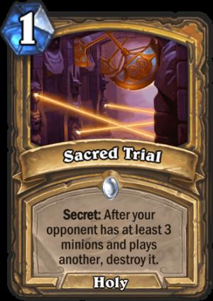 Sacred Trial Card
