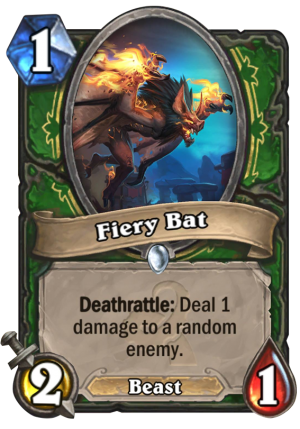 Fiery Bat Card