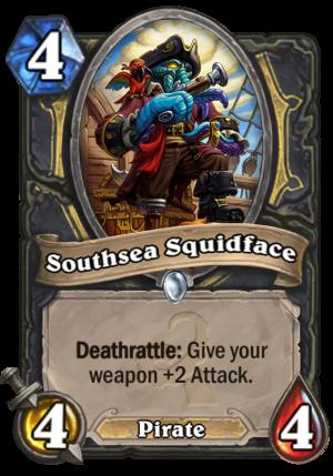 Southsea Squidface Card