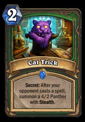 Cat Trick Card