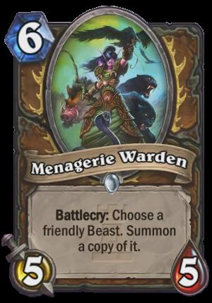 Menagerie Warden Card