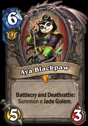 Aya Blackpaw Card