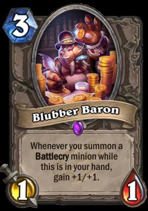 Blubber Baron Card
