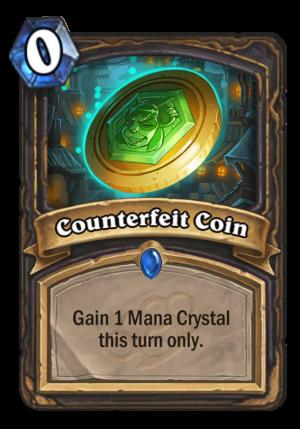 Counterfeit Coin Card
