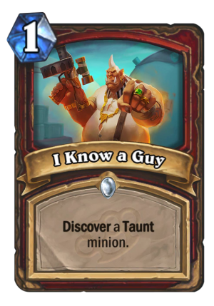 I Know a Guy Card