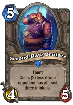 Second-Rate Bruiser Card