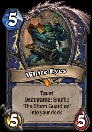 White Eyes Card