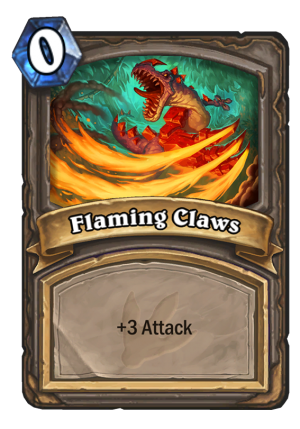 Flaming Claws Card