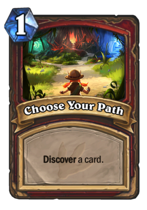 Choose Your Path Card