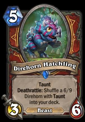 Direhorn Hatchling Card