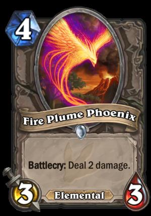 Fire Plume Phoenix Card