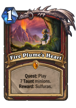 Fire Plume's Heart Card