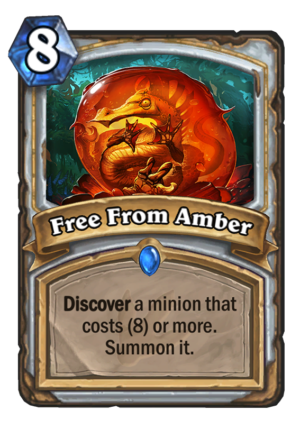 Free From Amber Card